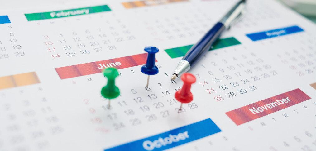 um calendário de conteúdo eficiente
